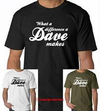 ! qué diferencia a Dave hace Gracioso Eslogan T Shirt Regalo Para Padres Día Navidad