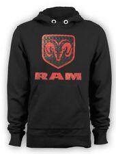 Dodge Ram Hemi Hoodie Pull Over Diamond Plate Ram Head Logo Small to 4XL