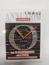 ANNUARIO OROLOGI - LE TABELLE  96- 97 - TECHNIMEDIA
