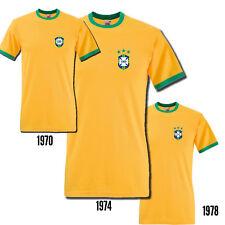 Brazil 1970 1974 1978 Badge Retro Football World Cup Shirt Printed T-Shirt