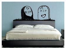 WALL STICKERS MURALI RIP Zombie halloween casa parete love casa camera letto