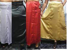 Satin Peticoat Underskirt Long/Short Women's Black White Red Gold Full Slip