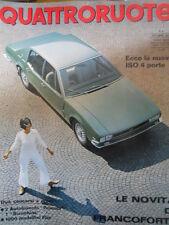 Quattroruote 141 1967 La Nuova ISO a 4 porte - Novità Salone di Francoforte