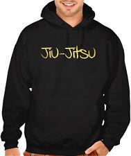Men's Shiny Gold Jiu Jitsu Black Hoodie MMA Fighter BJJ Gym Fit Training Sweater