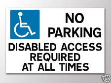 No hay aparcamiento discapacitado se requiere acceso a 3 mm Rígido Signo