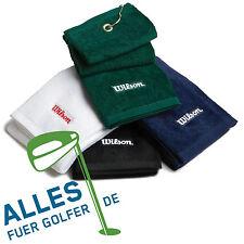 Wilson Golf Schlägerhandtuch hochwertiges Baumwoll-Velours drei Farben verfügbar