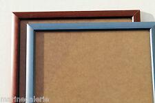 Cadre 33x33 ( 30 cm ) bois bleu ou marron brun bicolore carré avec verre Neuf