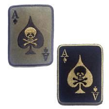 Aufnäher / Bügelbild - Poker Ass Totenkopf Biker - mehrere Farben auswählbar - 5