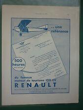 6/1932 PUB RENAULT MOTEUR AVIATION TOURISME 100 CV / ANF LES MUREAUX 110 R2 AD