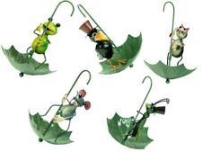 Animal Garden Hanging Metal Umbrella Bird Seed Feeder