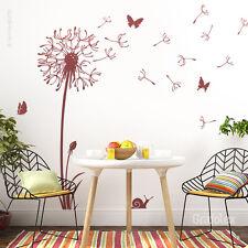 Wandtattoo Pusteblume + Schmetterlinge Wandaufkleber Deko Löwenzahn  w316d