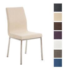 Chaise salle à manger COLMAR tissu fauteuil design acier cuisine salon visiteur