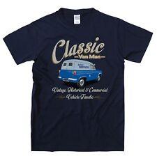 Ford Thames Van Classic Van Man T Shirt Retro Original Design blue