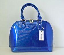 Fashion Women Handbag Satchel Shoulder Hobo Tote PATENT BLUE Bag Shell Shape