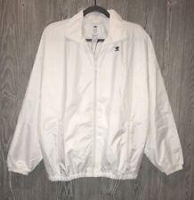 ADIDAS ORIGINALS Hyke White Oversized Windbreaker F/Z Jacket NEW Womens Sz S
