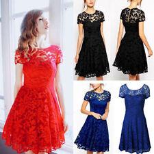 UK Plus Size Womens Lace Mini Dress Ladies Cocktail Evening Party Bridesmaids