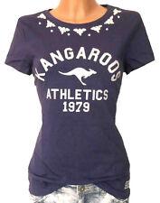 KANGAROOS Shirt GR. 40 42 44 46 48 navy Schmucksteine Damen NEU - 091
