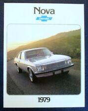 CHEVROLET NOVA CAR SALES BROCHURE 1979.