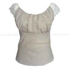 Leinentop 100 % Leinen natur Damen Top Bluse Shirt öko 1529