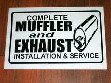 Auto Repair Shop Sign: Muffler & Exhaust Service