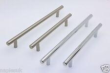 T Bar Solid Handles Kitchen, Bedroom Cabinet Door Handles 96mm 128mm 160mm sizes
