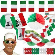 ITALIEN Deko italienische Party grün weiss rot - Girlande Laterne Teller Lampion