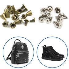 50pcs Screwback Spike Cone Studs 7mm x 13mm Rivets for Arts & Crafts Bag Clothes