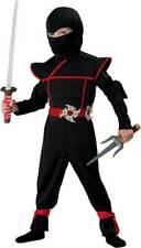 Stealthy Ninja Karate Halloween Costume Mortal Kombat Jumpsuit Toddlers Kids