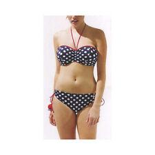598ba503cb Panache Navy White Spotty Monroe Bandeau Bikini Top
