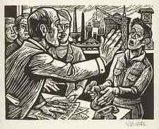 Barth-uchatzky-Le était confié-Jésus & l'argent-sign. Original Gravure Sur Bois