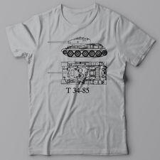Funny cool T-shirt - Russian Battle Tank T-34-85, USSR WWII Propaganda T34, T 34