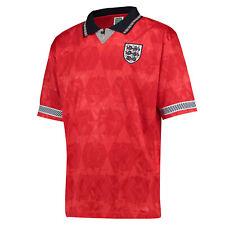 Score Draw Official Retro Fútbol Hombre England 1990 Copa Mundo Huéspedes Camisa