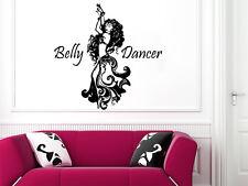 Wall Decals Belly Dancer Vinyl Sticker Decal Studio Dancing Dance Decor NS595