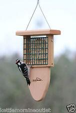 Kettle Moraine Cedar Single Suet Bird Feeder with Woodpecker Tail Prop #8315TP