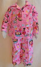 Girl Dora The Explorer Cotton Flannelette Winter Pyjamas pjs Size 1,2,3,4,5,6