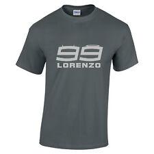 Jorge Lorenzo 99 Motogp Rider Equipo Yamaha Camiseta Logo Plata