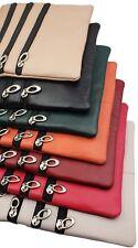 "Travel Ladies Genuine Leather Cross Body Bag Satchel Messenger Bag 48"" Strap"