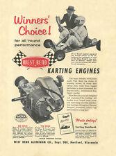 Vintage & Very Rare 1960 West Bend 580 & 700 Winners Choice Go-Kart Engine Ad