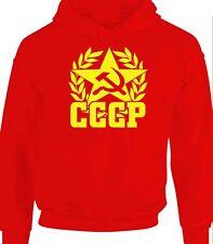 Union soviétique t-shirt design rétro cccp russie russe hoody sweat à capuche guerre froide