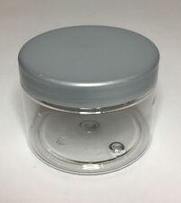 Empty 150ml Clear Plastic Jar With Silver Plastic Screw On Lid Quality Jar & Lid