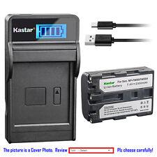 Kastar Battery LCD Charger for Sony NP-FM50 NP-QM71 NP-QM71D NP-QM91 NP-QM91D