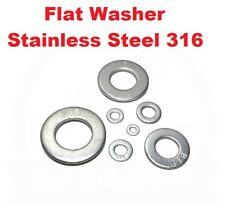 Flat Washer M2 M3 M4 M5 M6 M8 M10 M12 M16 M20 Marine Stainless Steel SS 316 A4