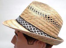 Chapeau pour hommes de paille récolte Garten Party Trilby en 54 - 61