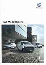 VW Prospekt 11/09 2009 Modellpalette Caddy Maxi Transporter Caravelle Crafter