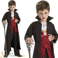 Boys Royal Vampire Costume Dracula Fancy Dress Halloween Horror Child Outfit