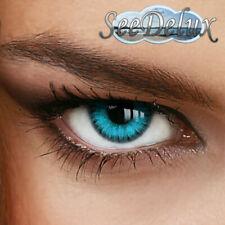 """Jahres Farbige Kontaktlinsen  """" Caribbean Blue """" -  Stärke von +5.00 bis -12.00"""