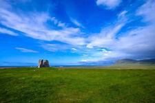 Blue Sky Grassland Scenery Landscape Photography Background Studio Prop Backdrop