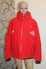 Kjus Relevation Herren Ski Winter Snowboard Jacke Rot Weiß Größe L oder XL Neu