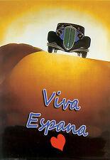 Viva Espana - Spain - Spanish Car Travel Vacation Holiday A3 Art Poster Print