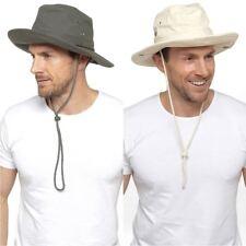 Da Uomo Donna Tom Franks 100% COTONE Safari Aussie Outback Bush Larga Tesa Cappello Da Sole